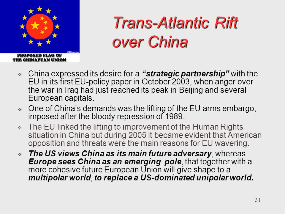 Trans-Atlantic Rift over China