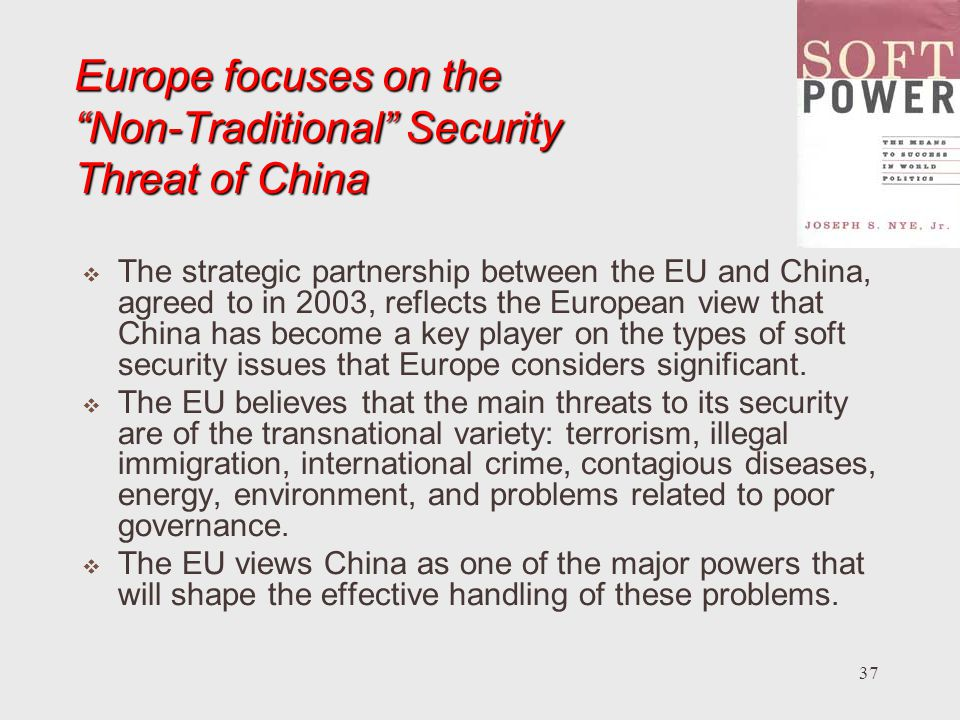 Europe focuses on the Non-Traditional Security Threat of China