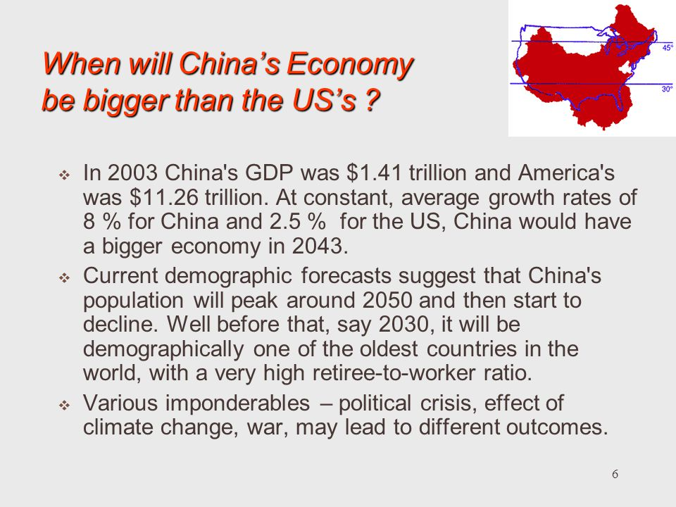 When will China's Economy be bigger than the US's