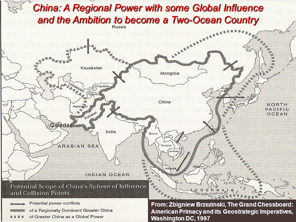 China: A Regional Power with some Global Influence and the Ambition to become a Two-Ocean Country