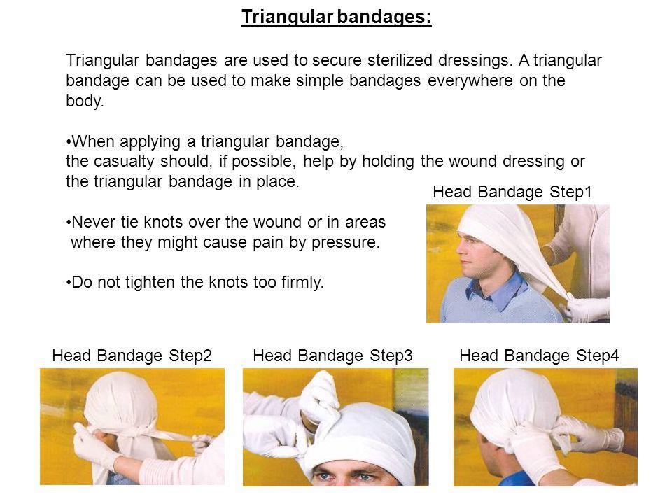 Triangular bandages: