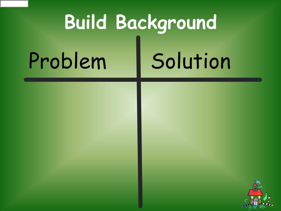 Build Background Problem Solution