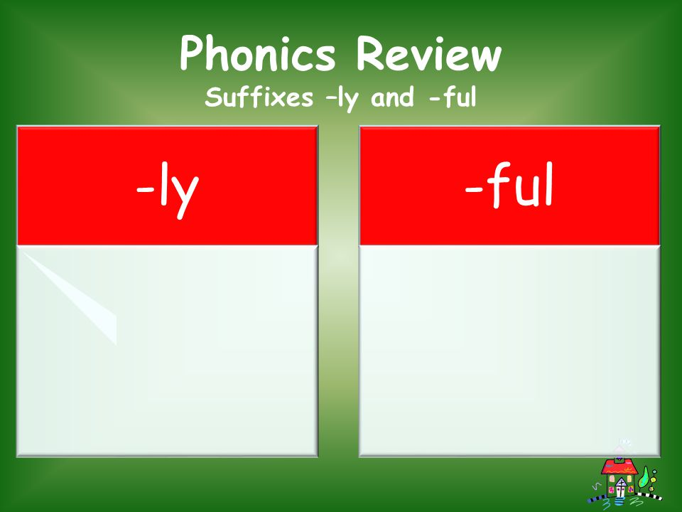 Phonics Review Suffixes –ly and -ful -ly -ful