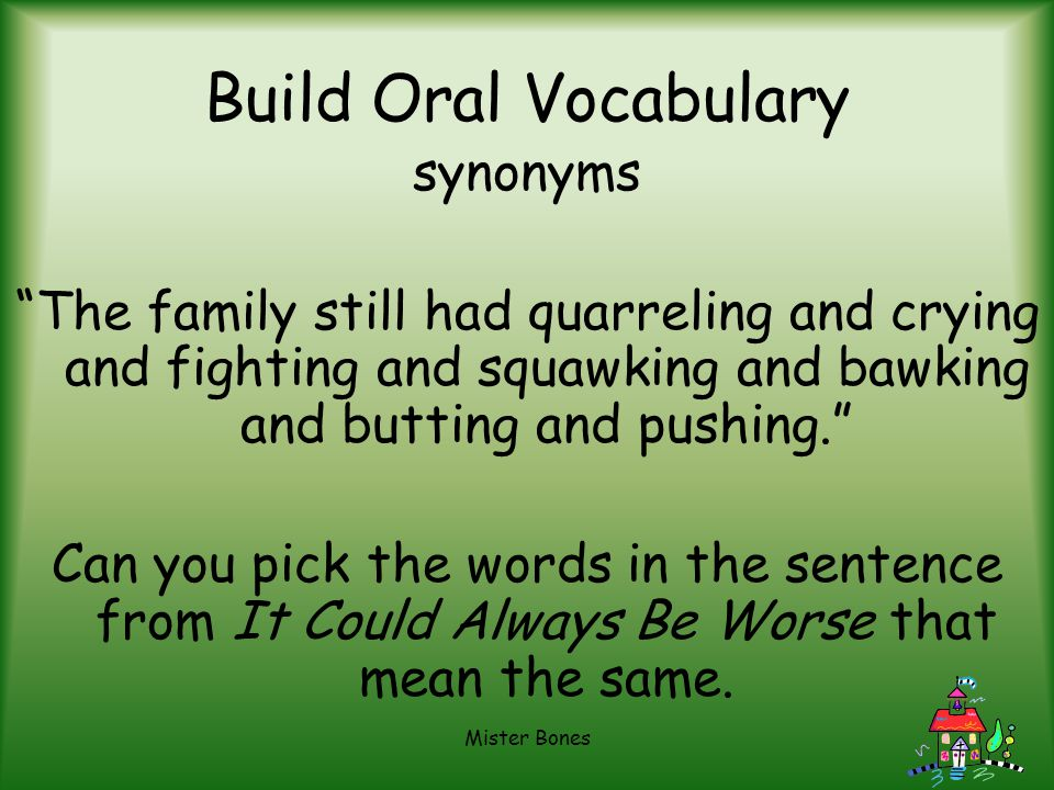 Build Oral Vocabulary synonyms