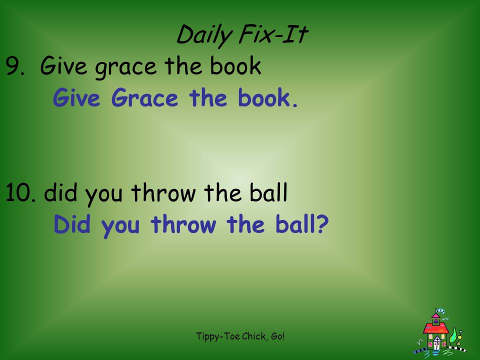 Daily Fix-It 9. Give grace the book Give Grace the book.