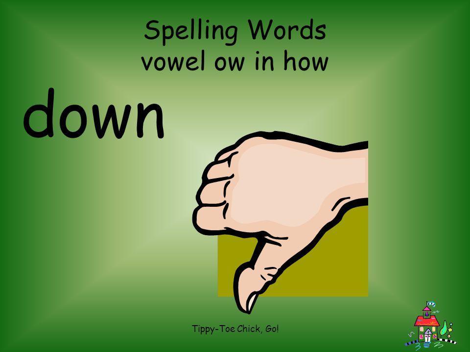 Spelling Words vowel ow in how