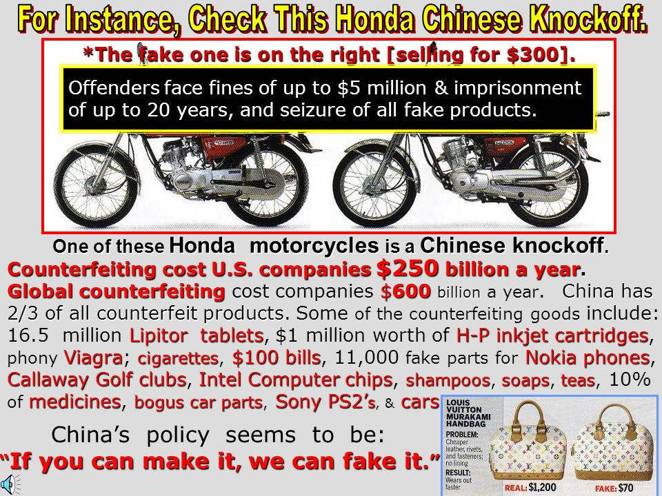 For Instance, Check This Honda Chinese Knockoff.