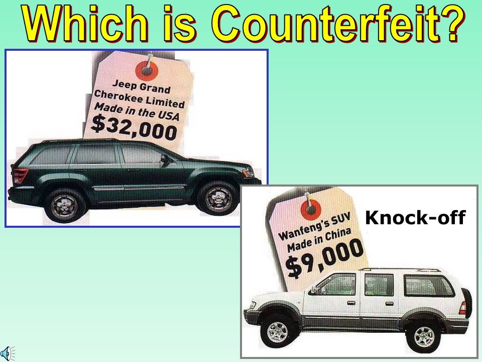 Which is Counterfeit Knock-off