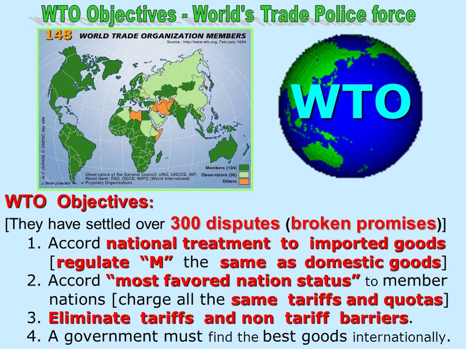 WTO Objectives - World s Trade Police force