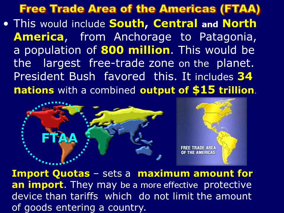 Free Trade Area of the Americas (FTAA)