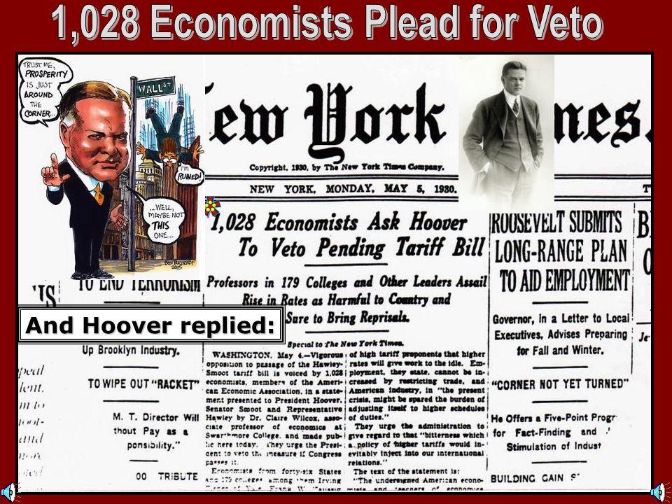 1,028 Economists Plead for Veto