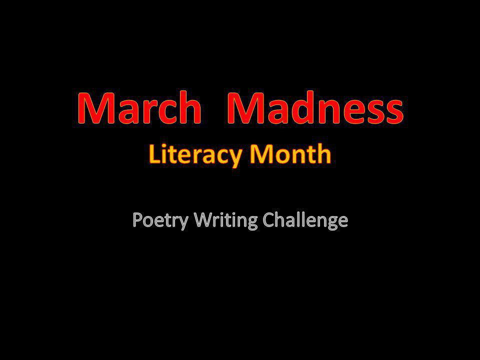 March Madness Literacy Month