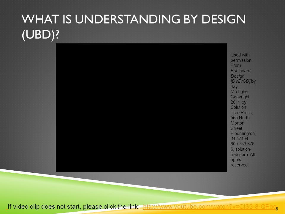 What is Understanding by Design (UbD)