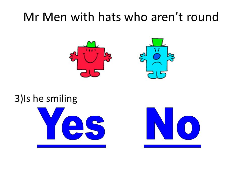 Mr Men with hats who aren't round