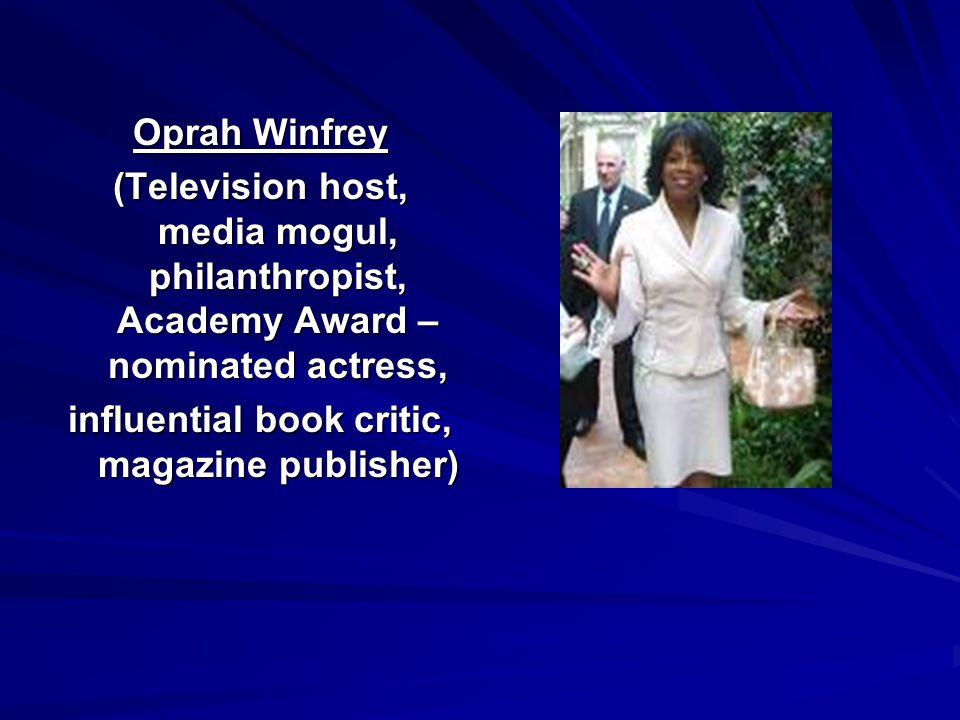influential book critic, magazine publisher)