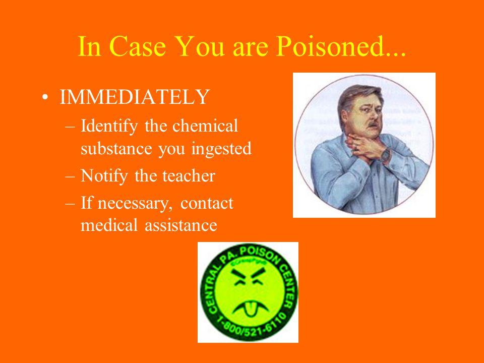 In Case You are Poisoned...