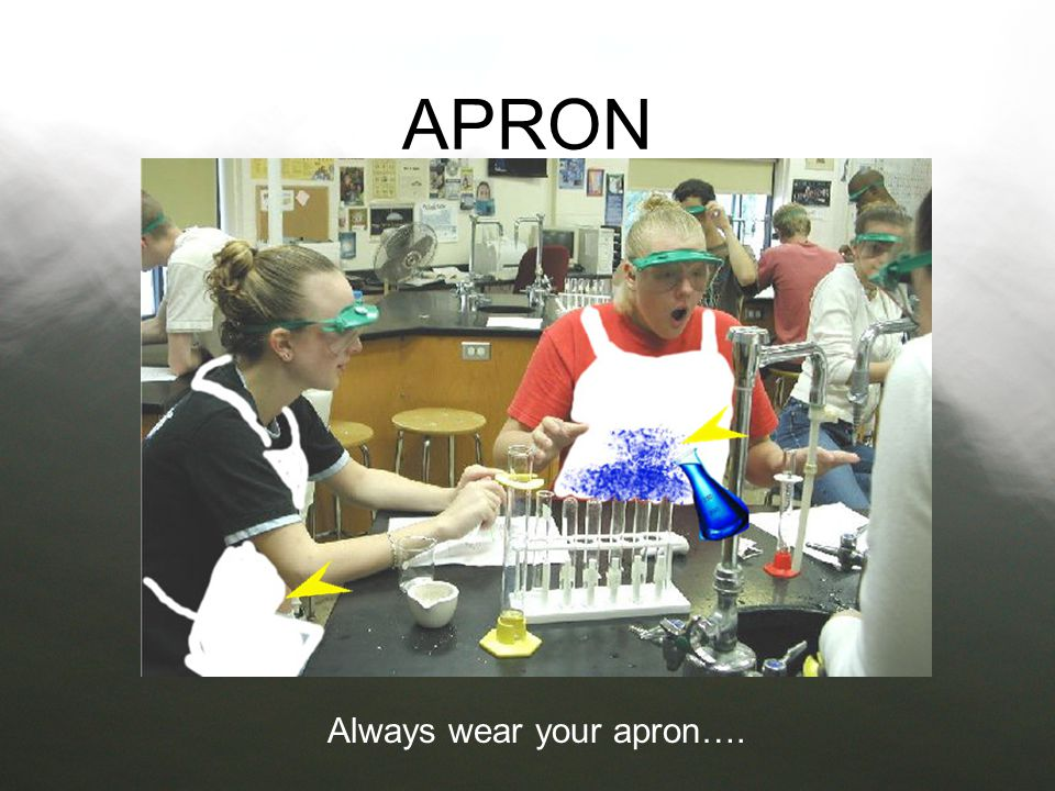 Always wear your apron….