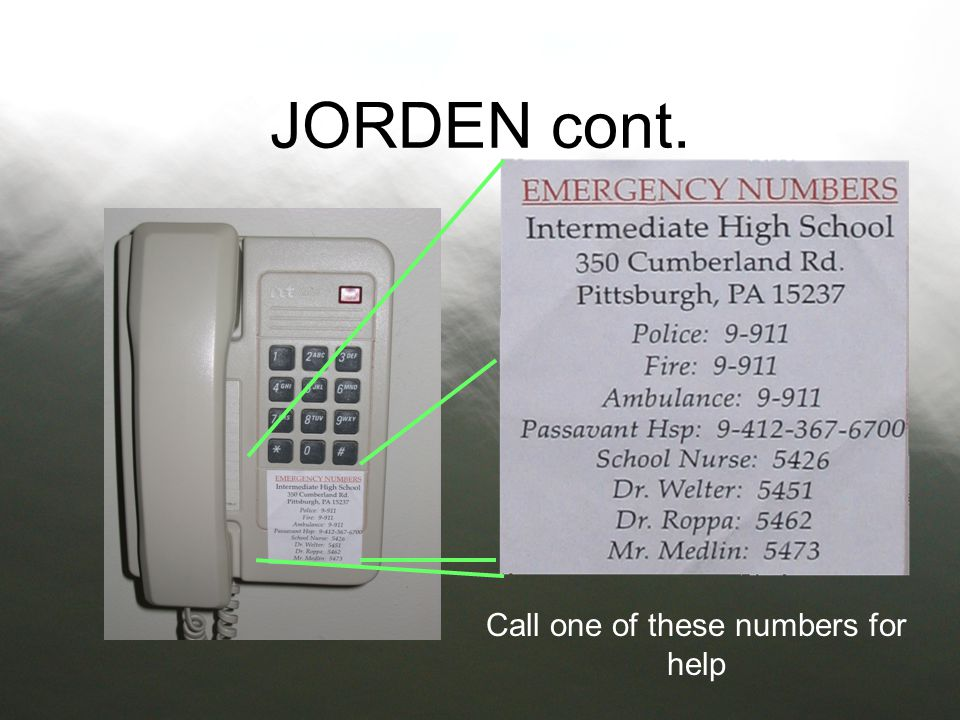 Call one of these numbers for help