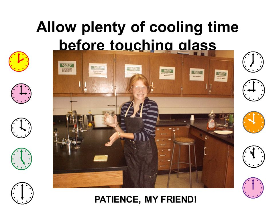 Allow plenty of cooling time before touching glass
