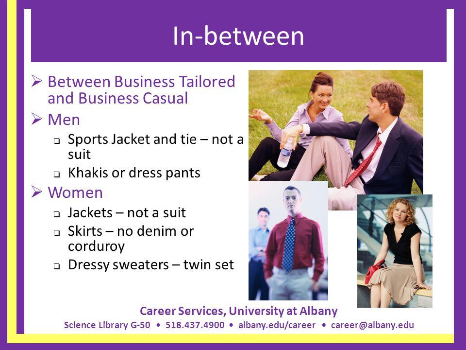 In-between Between Business Tailored and Business Casual Men Women