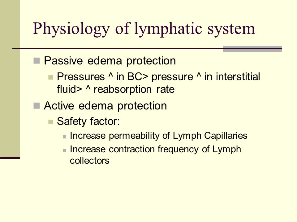 Physiology of lymphatic system