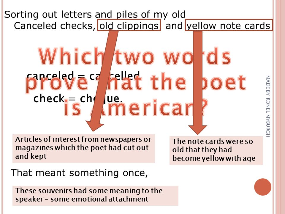 Which two words prove that the poet is American