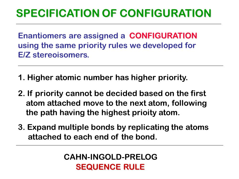 SPECIFICATION OF CONFIGURATION