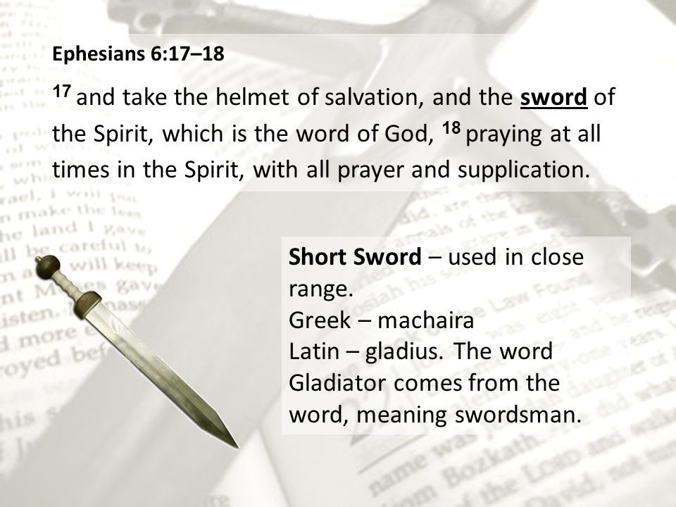 Short Sword – used in close range. Greek – machaira