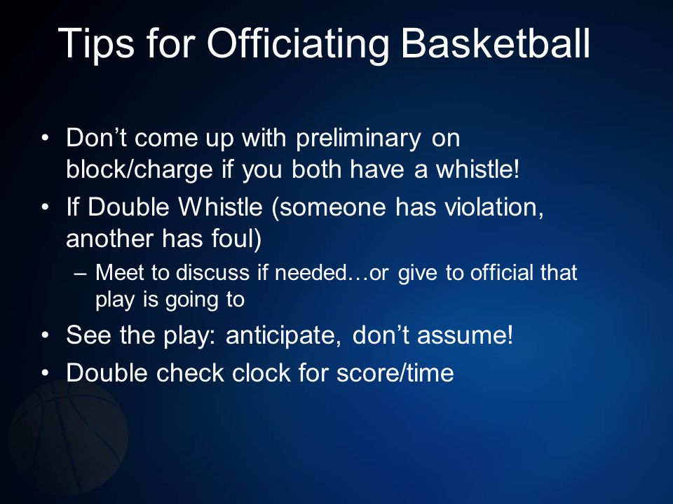 Tips for Officiating Basketball
