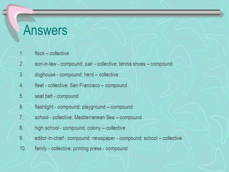 Answers flock – collective
