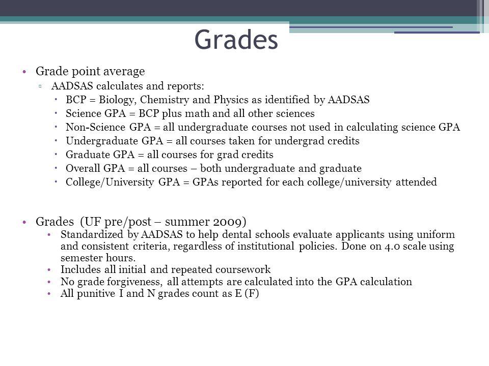 Grades Grade point average Grades (UF pre/post – summer 2009)