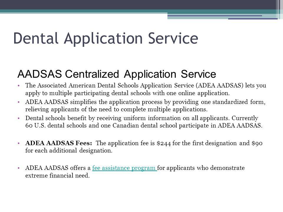 Dental Application Service