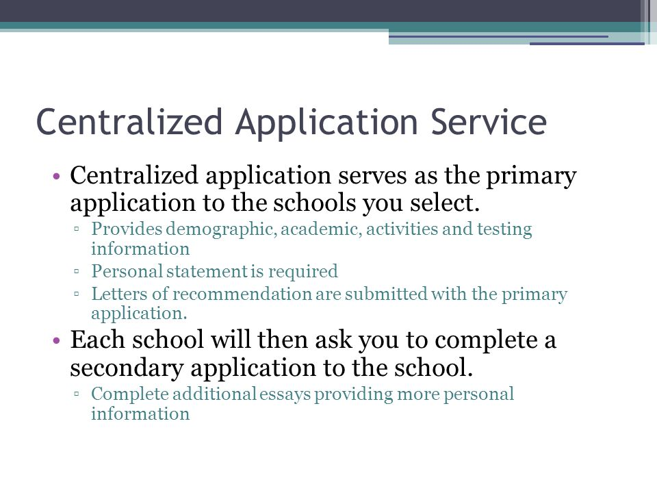 Centralized Application Service