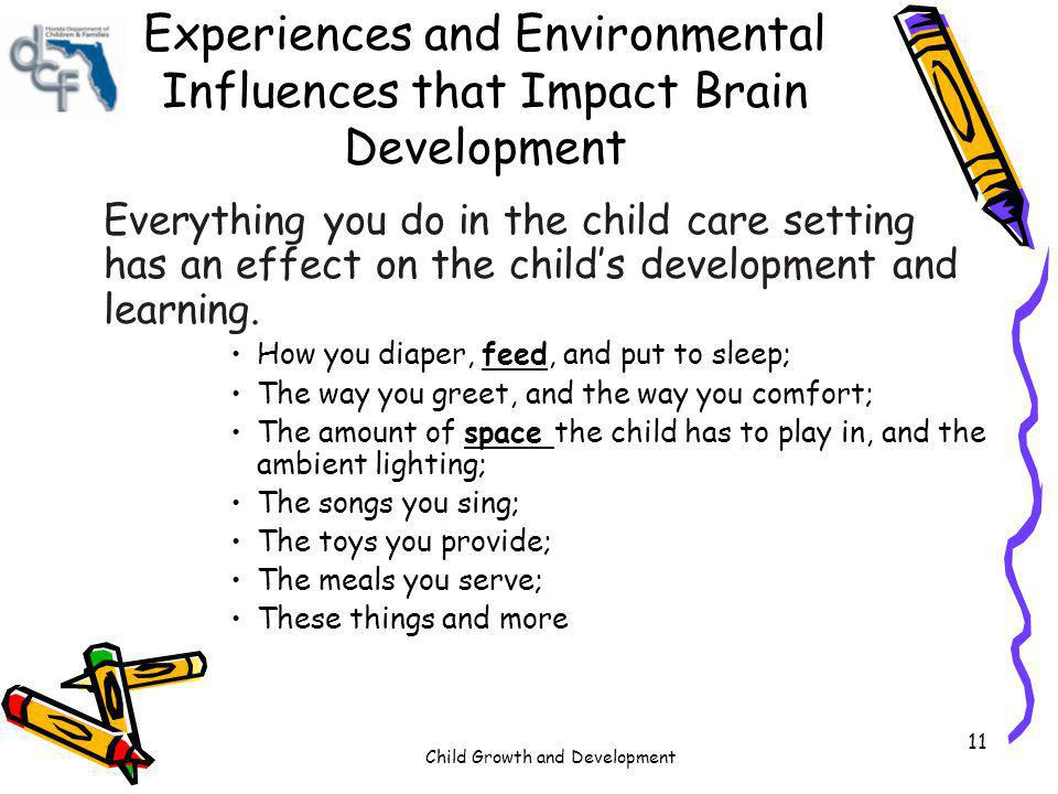 Experiences and Environmental Influences that Impact Brain Development