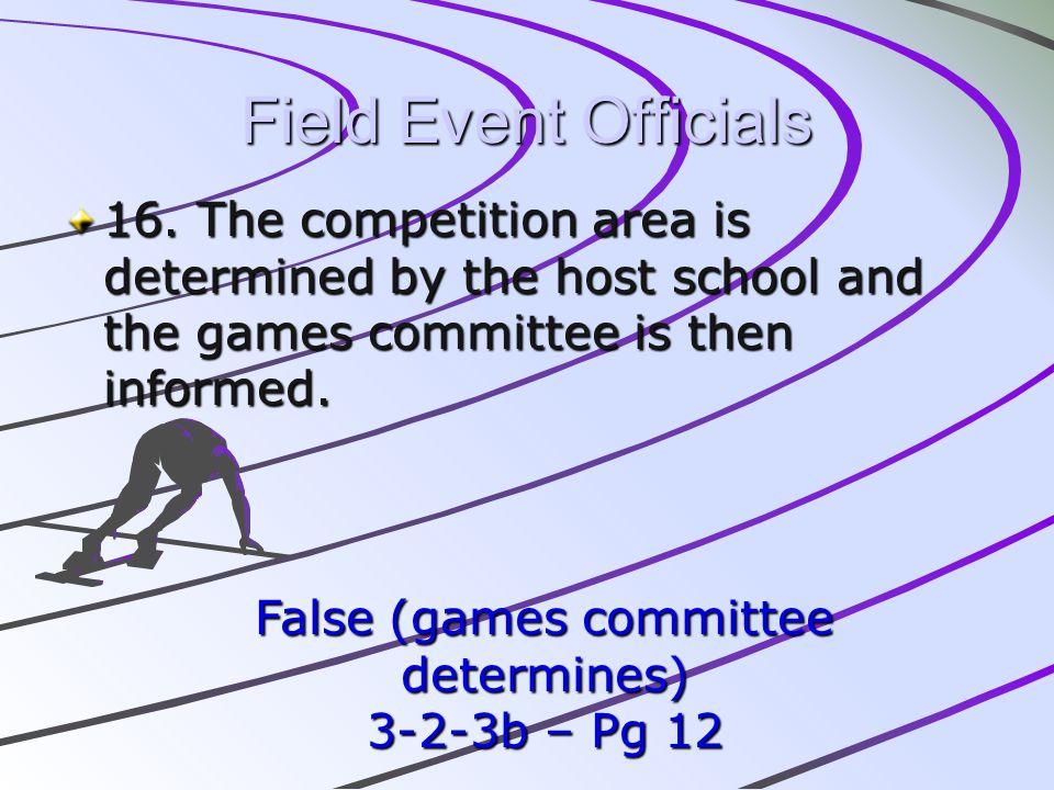 False (games committee determines)