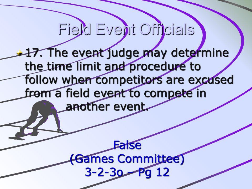 Field Event Officials