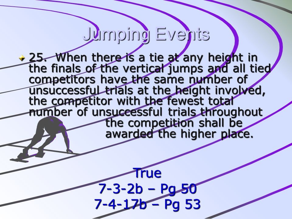 Jumping Events True 7-3-2b – Pg 50 7-4-17b – Pg 53