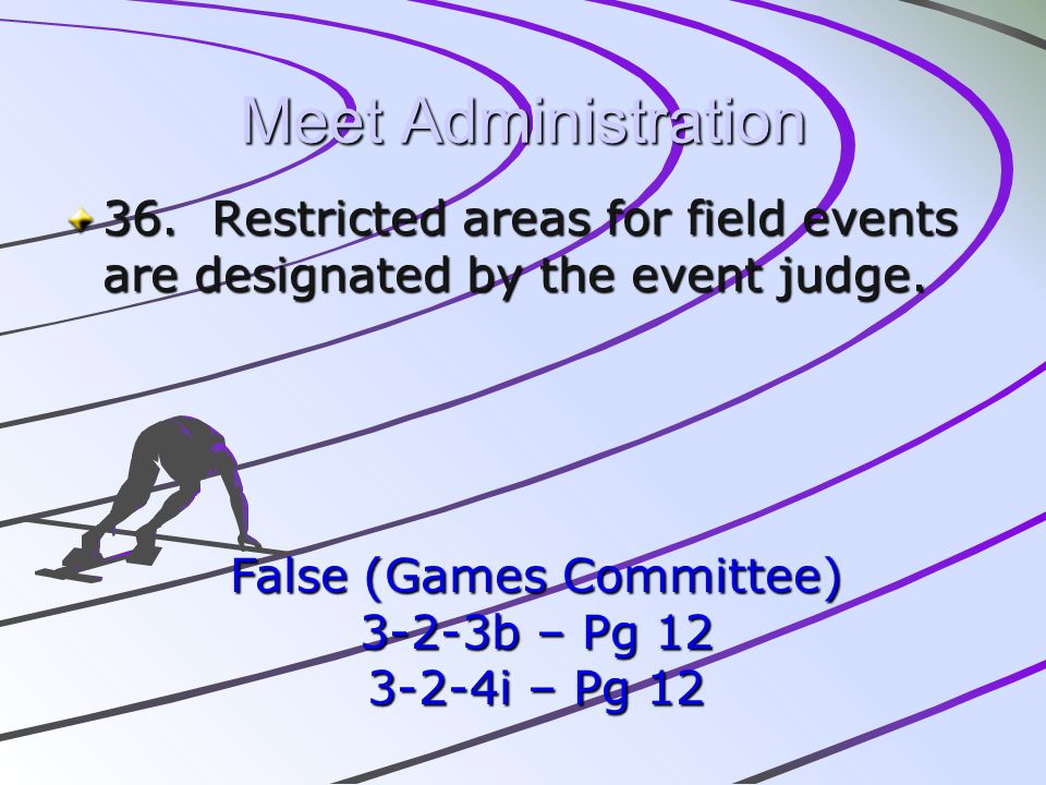 False (Games Committee)