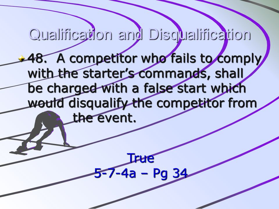 Qualification and Disqualification