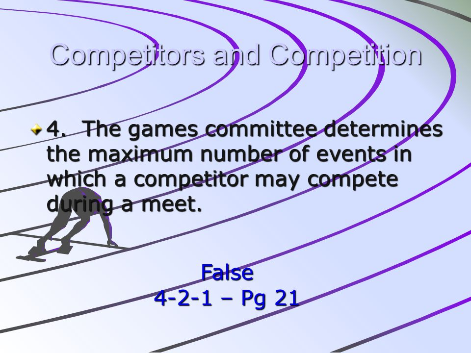 Competitors and Competition