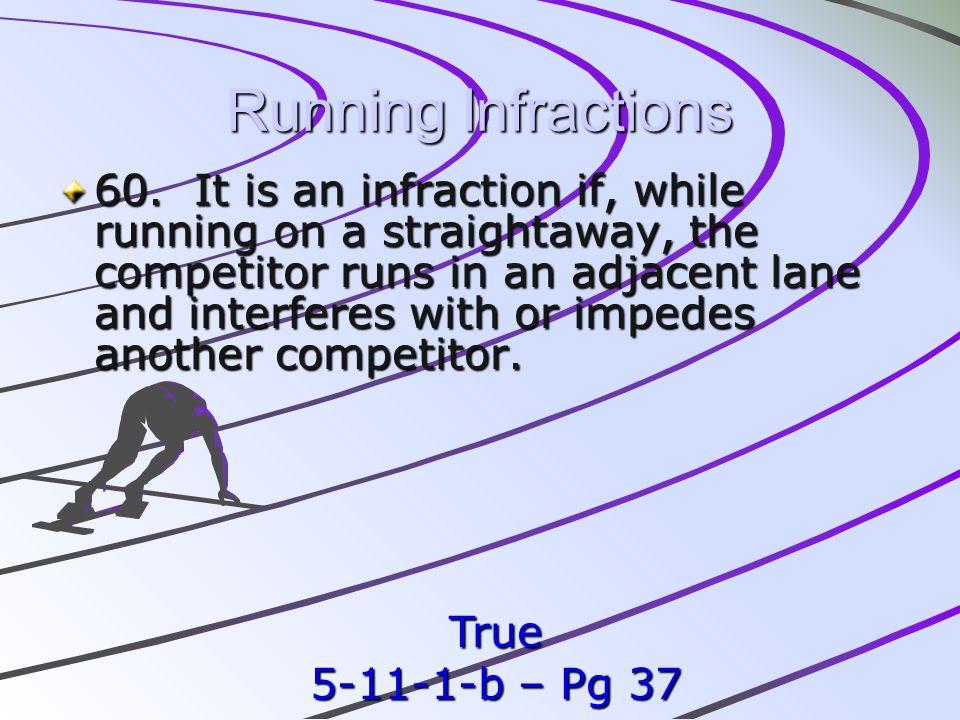 Running Infractions