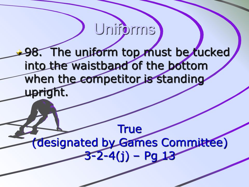 (designated by Games Committee)