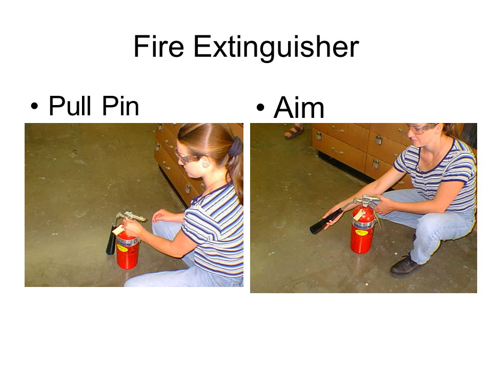 Fire Extinguisher Pull Pin Aim