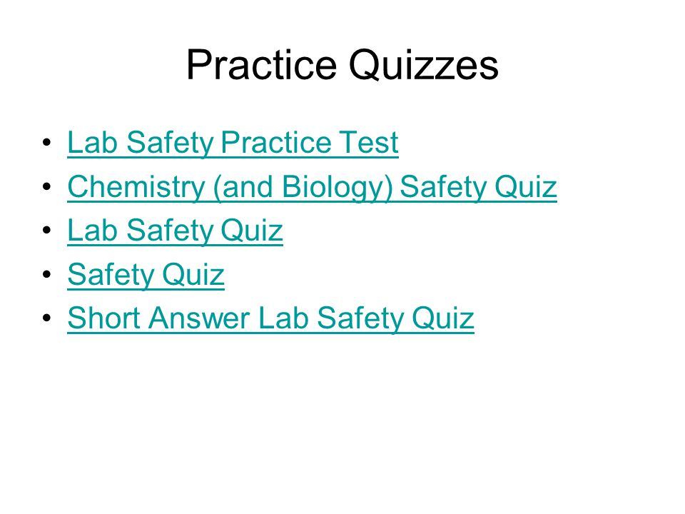 Practice Quizzes Lab Safety Practice Test