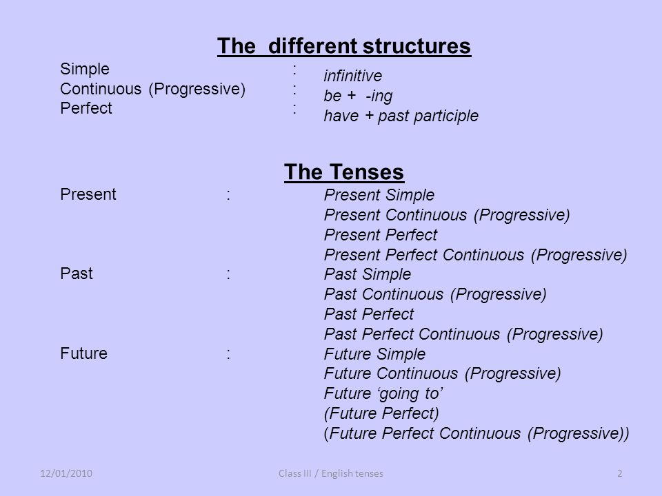 The different structures