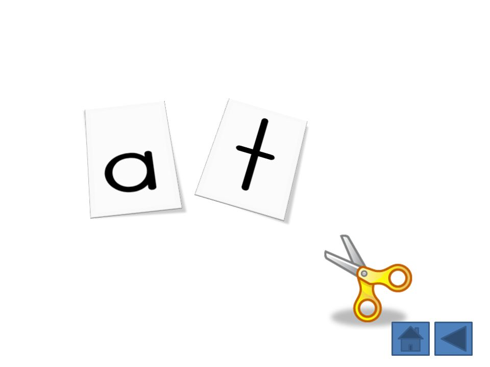 Students manipulate letters to spell the word