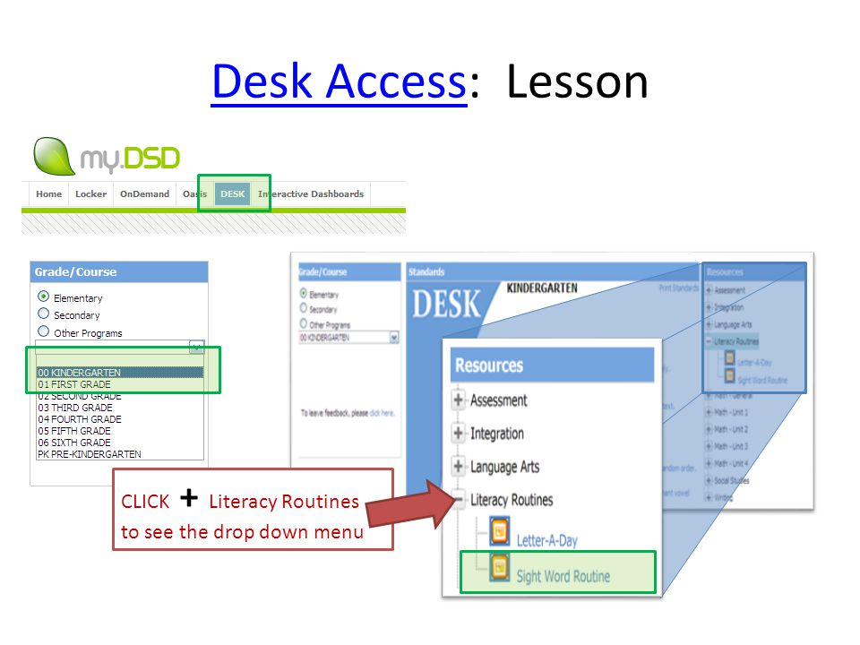 Desk Access: Lesson CLICK + Literacy Routines