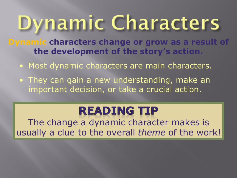 Dynamic Characters Reading Tip