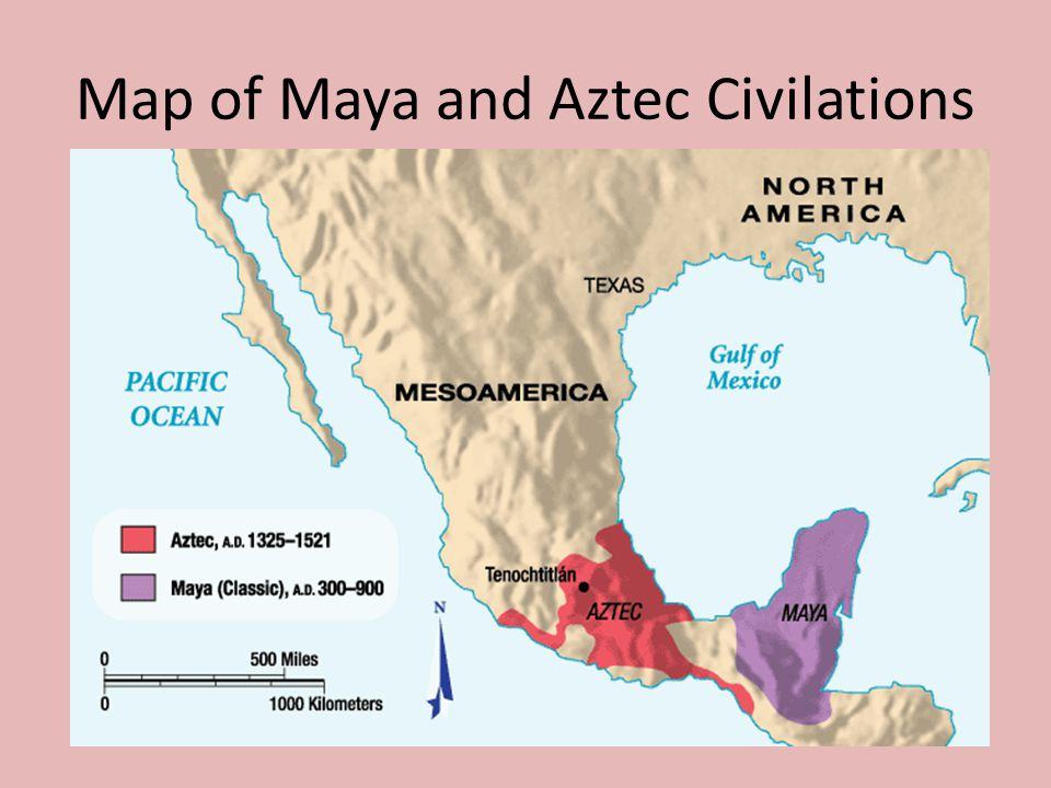Map of Maya and Aztec Civilations
