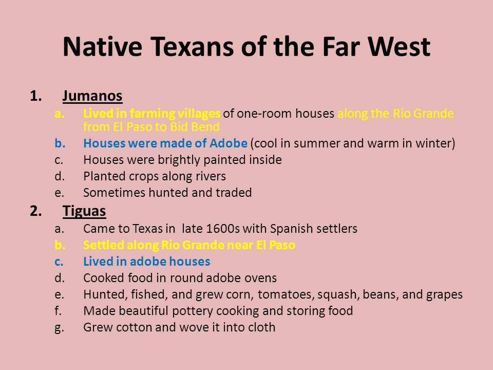 Native Texans of the Far West